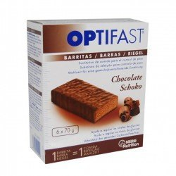 Optifast Barritas Chocolate. 6 Unidades