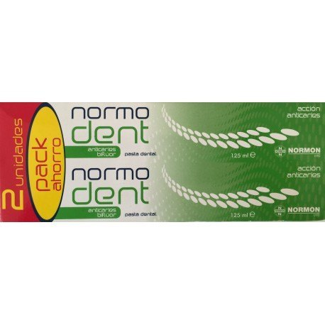 Pack Pasta Normadent Anticaries 2x125mL